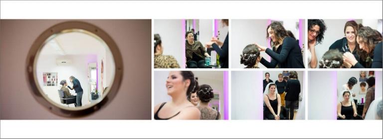 Hochzeitsfotograf Saarland - Hochzeitalbum Layout Getting Ready